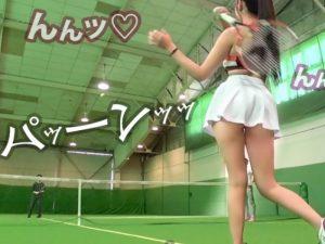スラっとしたテニス女子の姿に興奮しちゃう『顔も可愛くて、スポーツ女子フェロモンが漂うw』乳首とオマ〇コを同時に責めまくる!