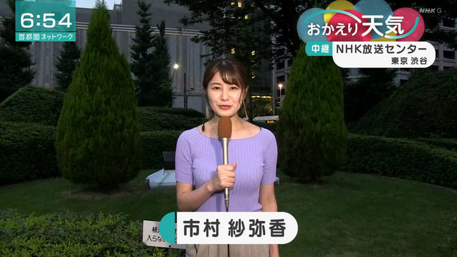 NHKの巨乳お天気お姉さん ピチピチのニットを着てしまう!!